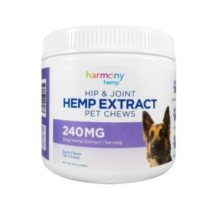 Harmony Hemp Hip & Joint Pet Chews - 240mg - 120 chews