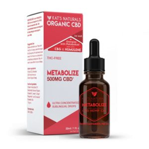 Kat's Naturals Metabolize THC Free CBD Oil 500mg 30ml