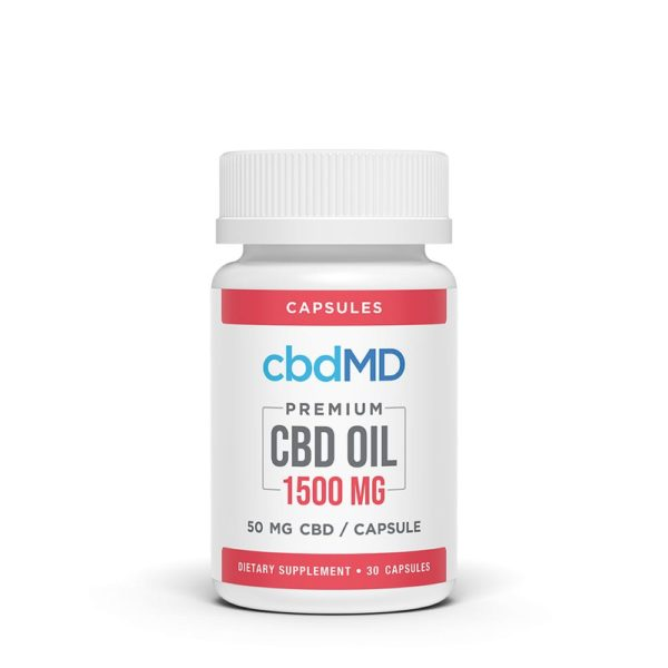 cbdMD CBD Oil Capsules 30 count 1500mg