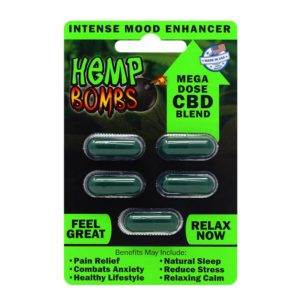 Hemp Bombs CBD Capsules 5 Count