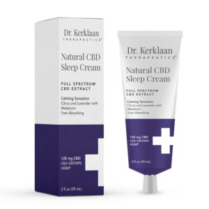 Dr. Kerklaan Therapeutics Natural CBD Sleep Cream 120mg 2oz