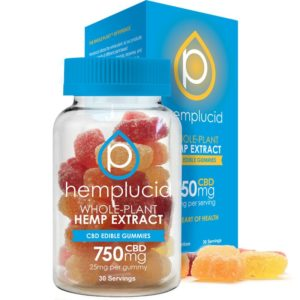 Hemplucid Edible Gummies 30 Count - 750mg