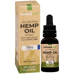 mintedLeaf Full Spectrum CBD Oil - Mint 750mg