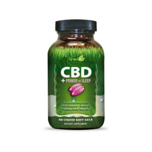 Irwin Naturals CBD +Power to Sleep 60 Liquid Soft-Gels