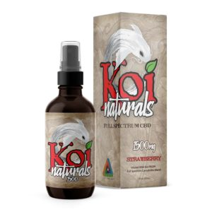 Koi Naturals Full Spectrum CBD Oil 60ml Spray - Strawberry 1500mg