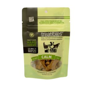 Treatibles Small Turkey Grain Free Hard Chews 1mg CALM Intro