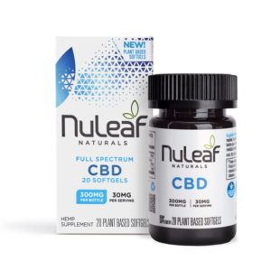 NuLeaf Naturals Full Spectrum CBD Softgels 15mg 300mg 20 Count