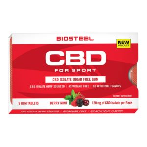 BioSteel CBD Isolate Sugar-Free Gum Berry Mint 120mg
