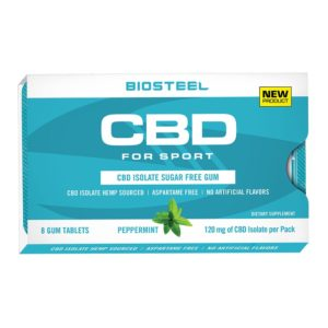 BioSteel CBD Isolate Sugar-Free Gum Peppermint 120mg