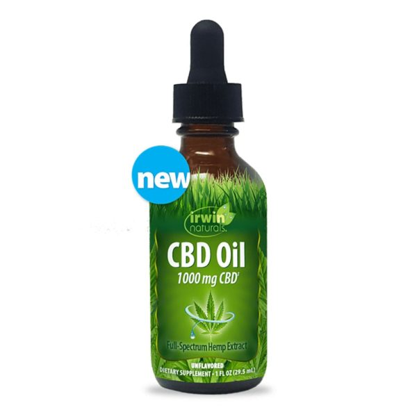 Irwin Naturals CBD Oil – Unflavored 1000mg