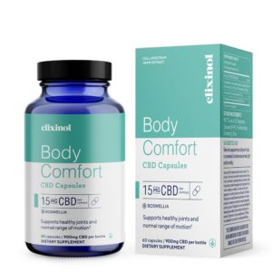 Elixinol CBD Hemp Oil Body Comfort Capsules 900mg 60 Count