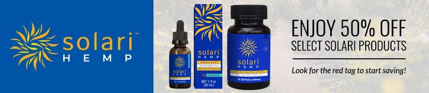 Enjoy 50% Off Select Solari Products - Look for the red tag to start saving!