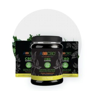 A88CBD Vegan CBD Gummies - Lime Mango Group