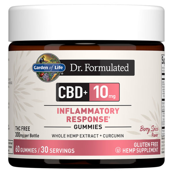 Dr. Formulated CBD Inflammatory Response Gummies - Berry Spice 10mg 60 Count