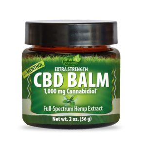 Irwin Naturals Extra Strength CBD Balm with Menthol 1000mg