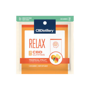 CBDistillery CBD Relax Gummies – Tropical Fruit 30mg 5 Count