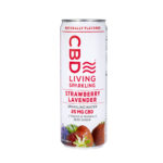 CBD Living Sparkling Water – Strawberry Lavender 25mg 12oz