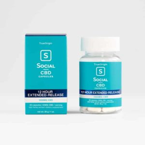 Social CBD Gel Capsules - 12 Hour Extended Release 50mg 30 Count